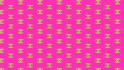 Pink Chanel Logo Pattern Wallpaper 54425