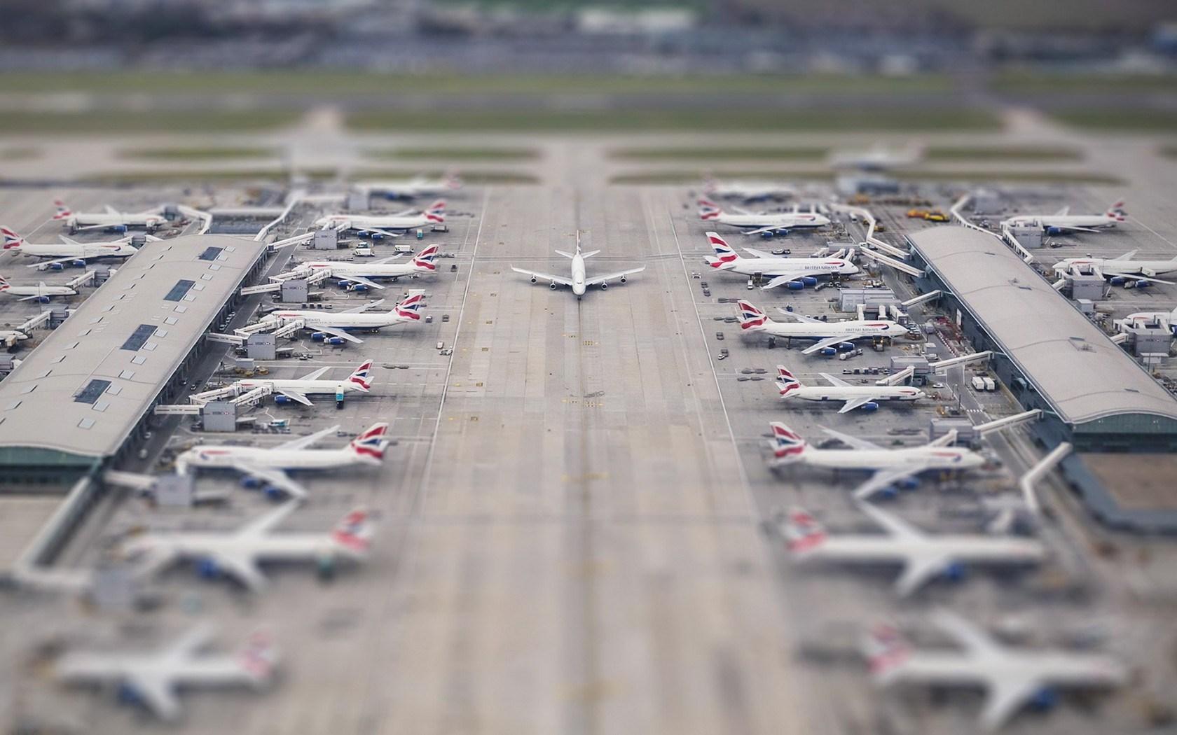 airport tilt shift wallpaper 50128