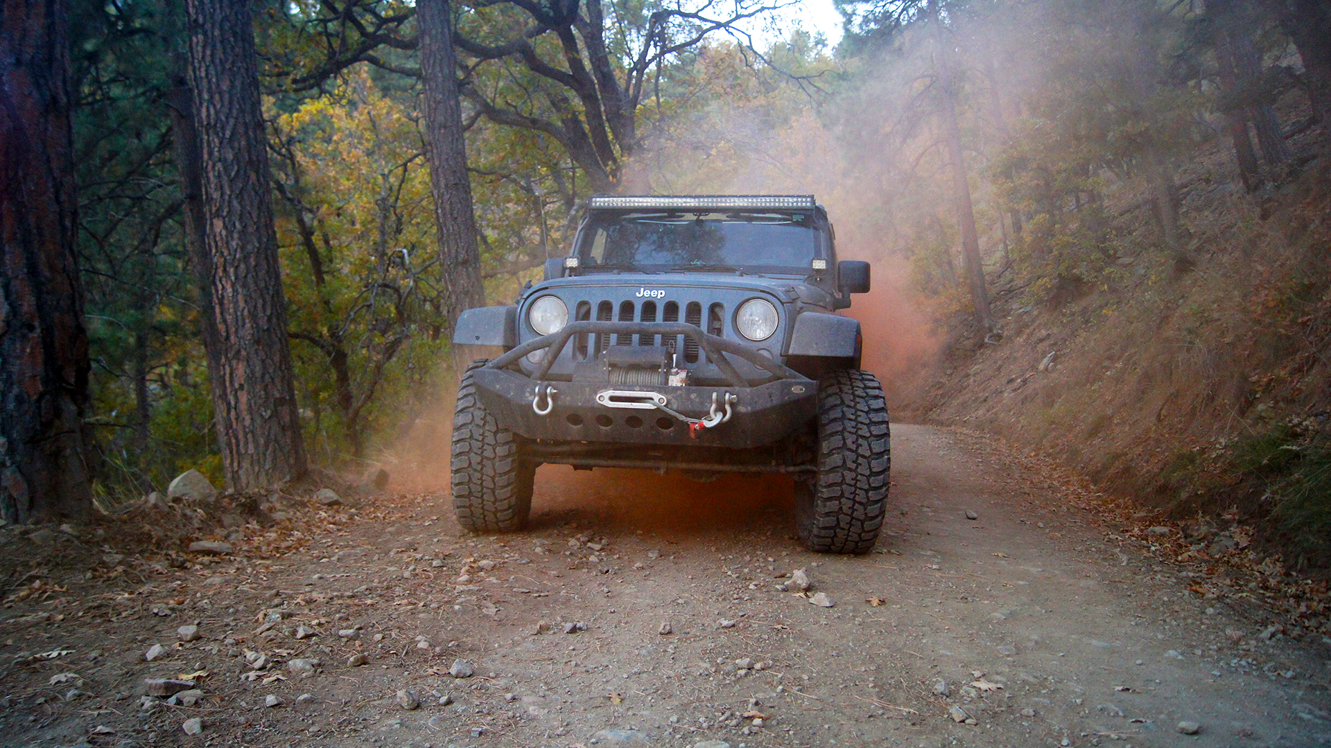 Jeep Wrangler Sport With Orange Smoke Wallpaper 57932
