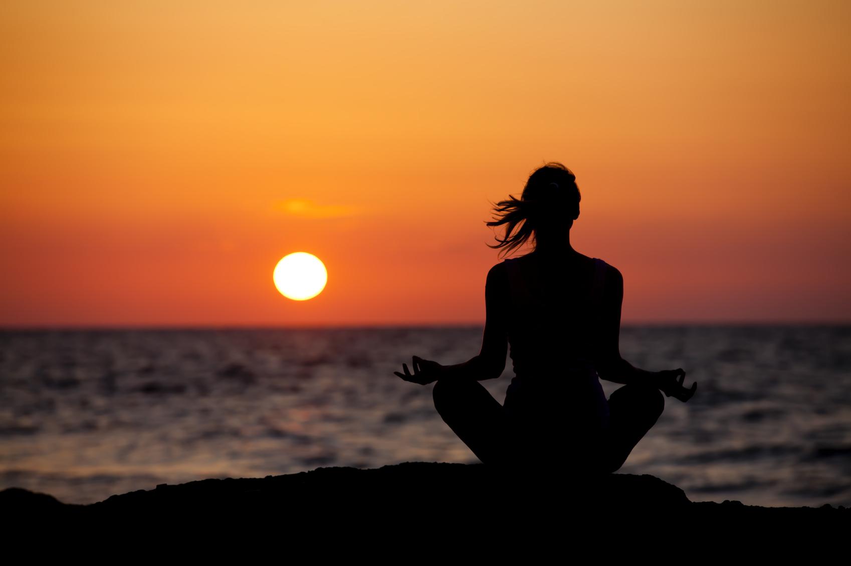 meditation silhouette computer wallpaper 53139