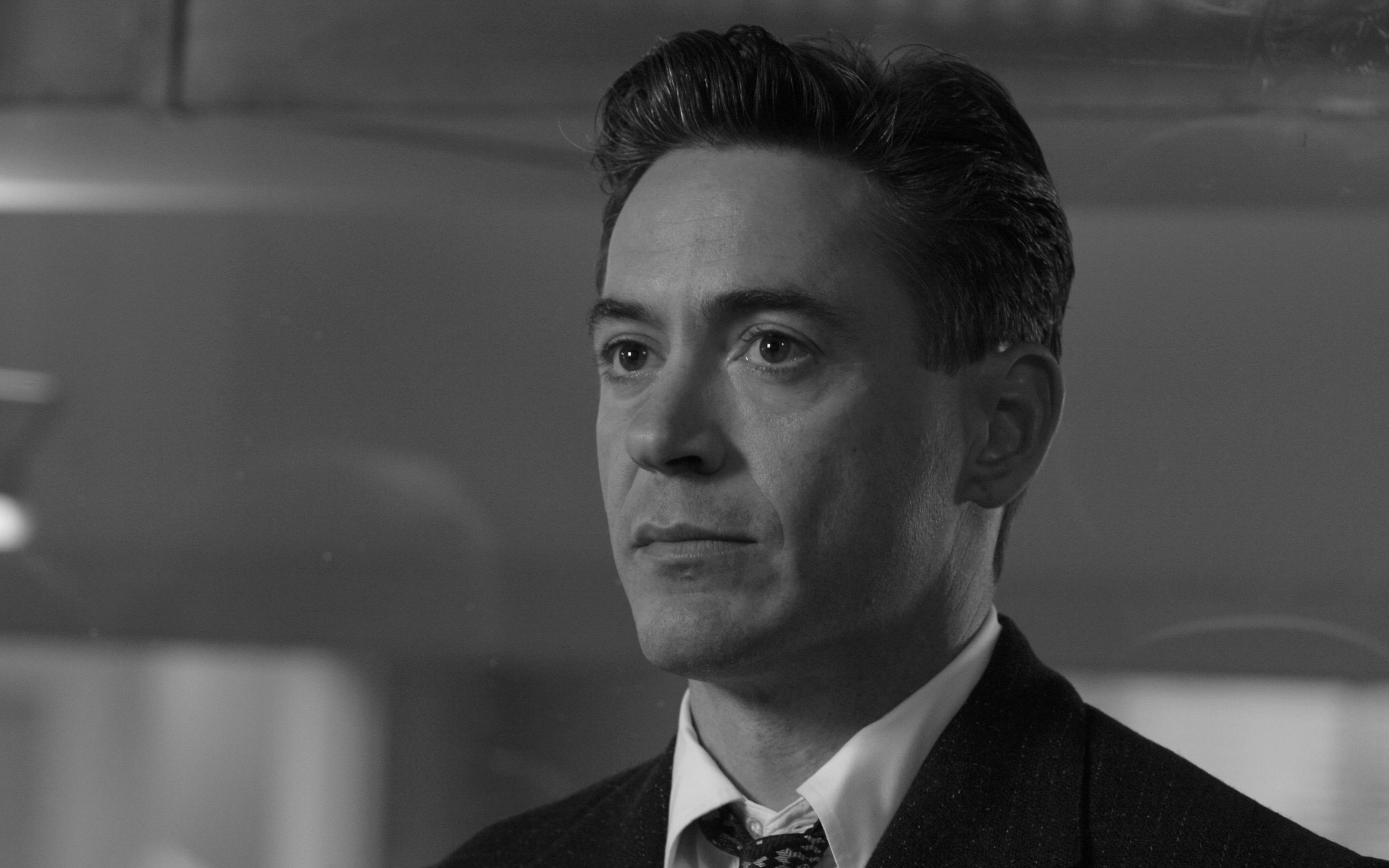monochrome robert downey jr wide wallpaper 54889