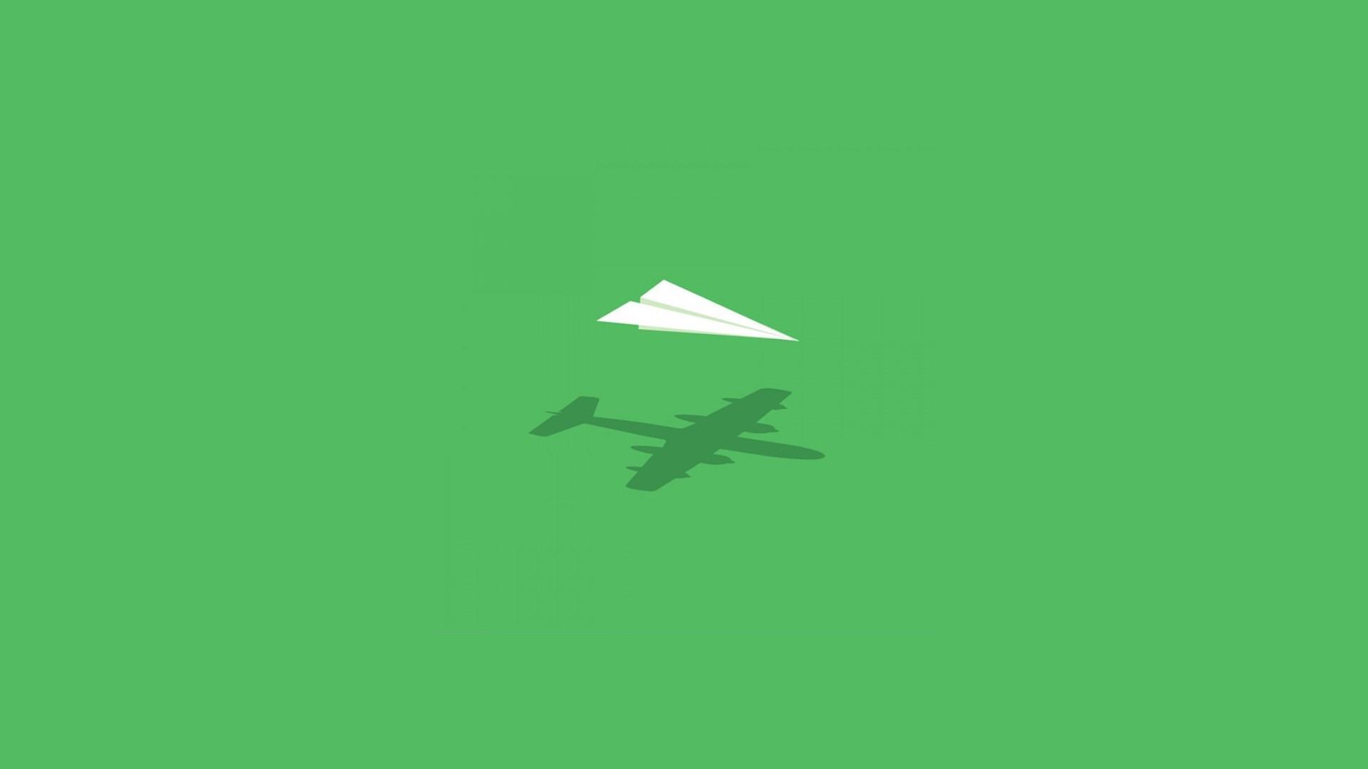 paper airplane imagination wallpaper 58077