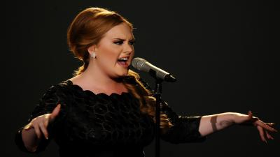 Adele Performing Wallpaper Background 54451