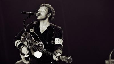 Monochrome Chris Martin Wallpaper Background 56952