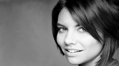 Monochrome Lauren Cohan Face Wallpaper 53471
