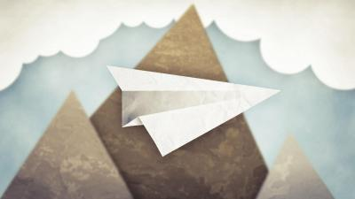 Paper Airplane Art Widescreen Wallpaper 58075