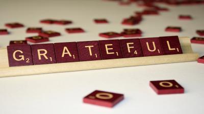 Scrabble Grateful Wide Wallpaper 52749