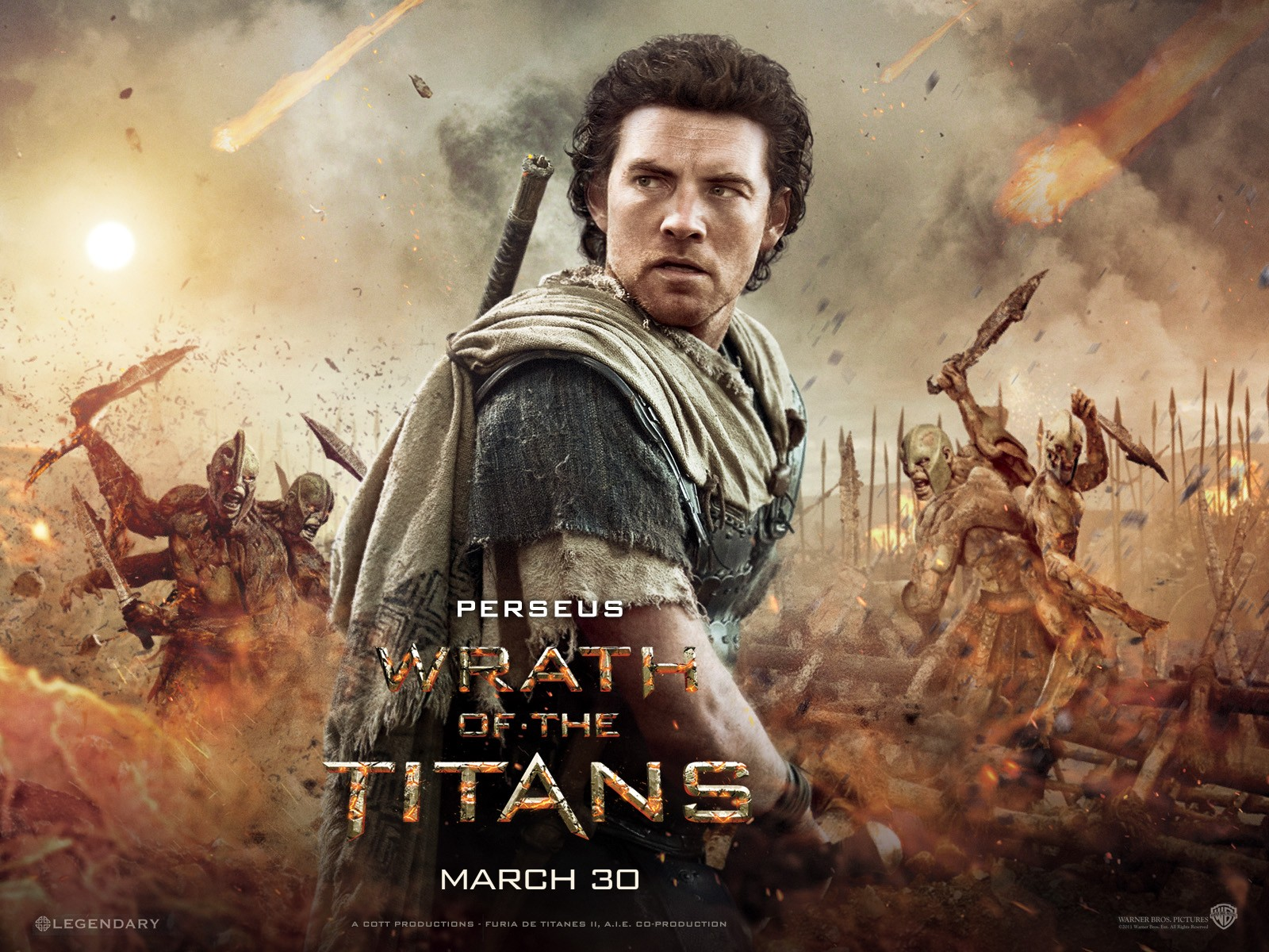 wrath of the titans movie perseus wallpaper 58203