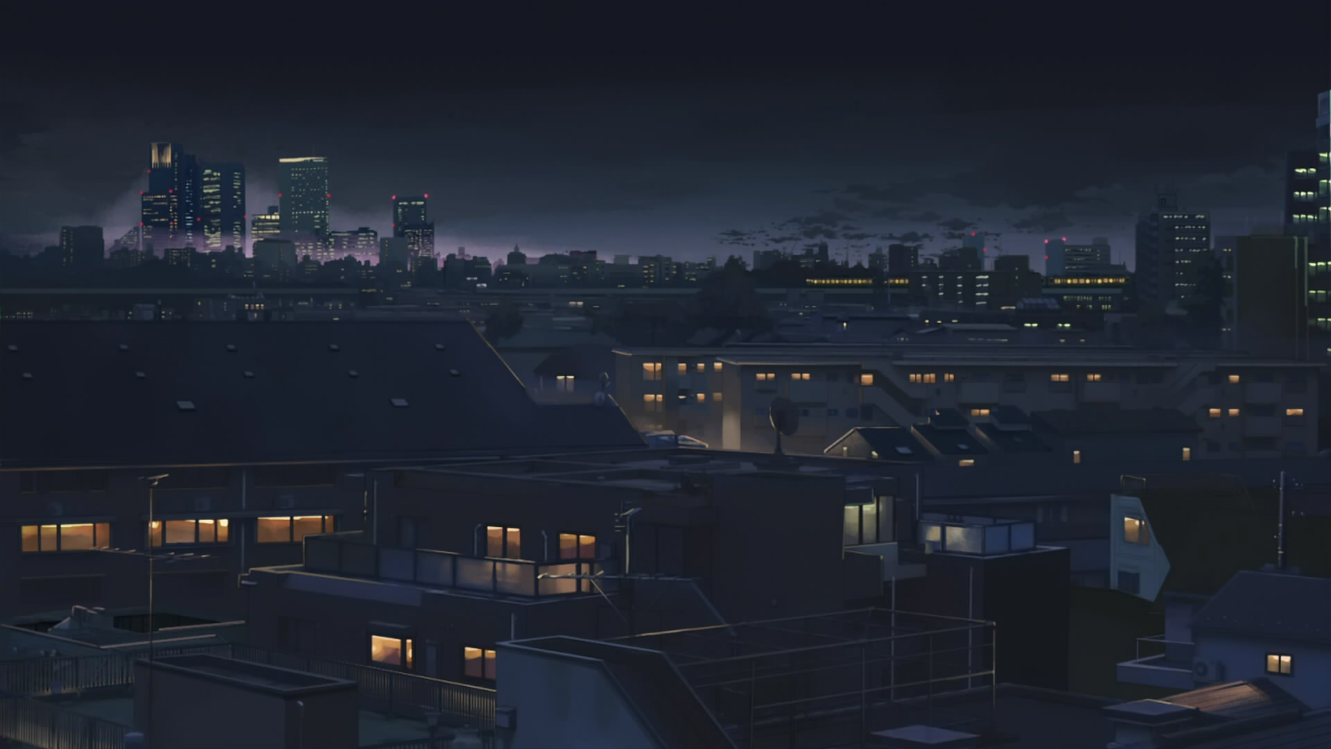 anime city desktop wallpaper 50839