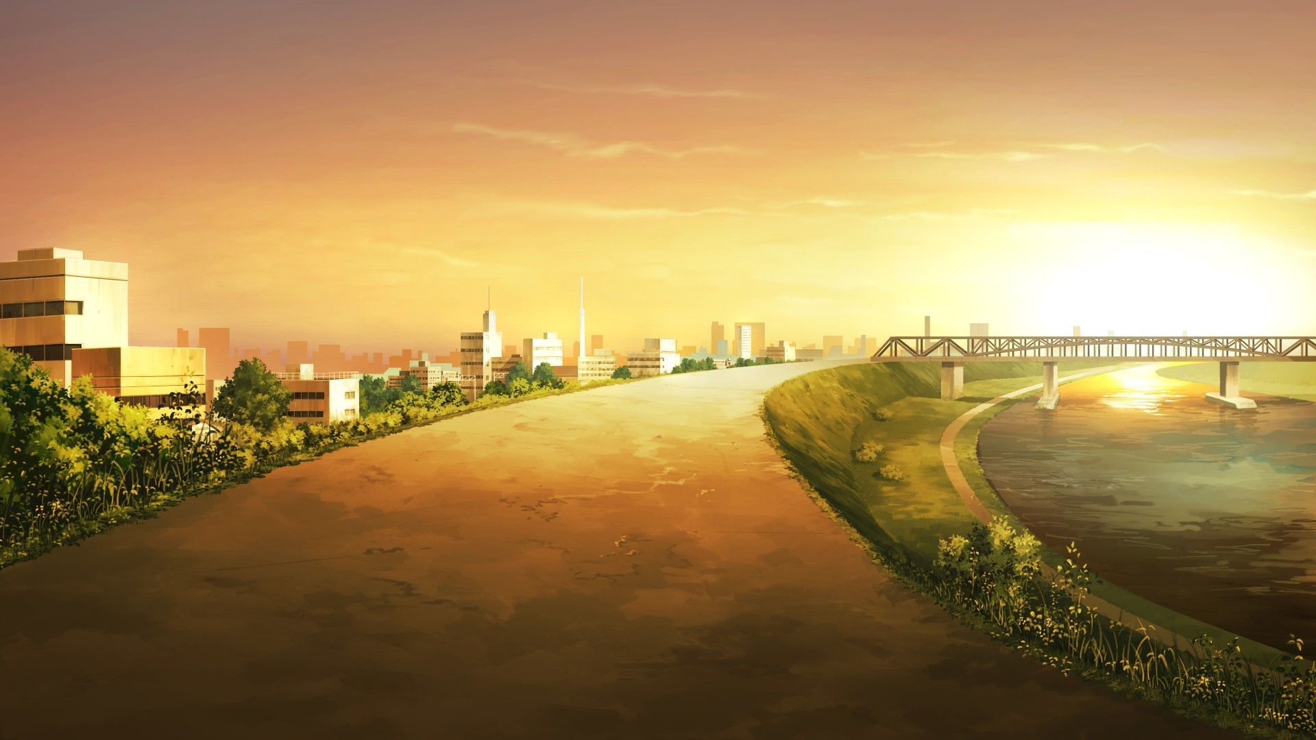 anime city desktop wallpaper 50841