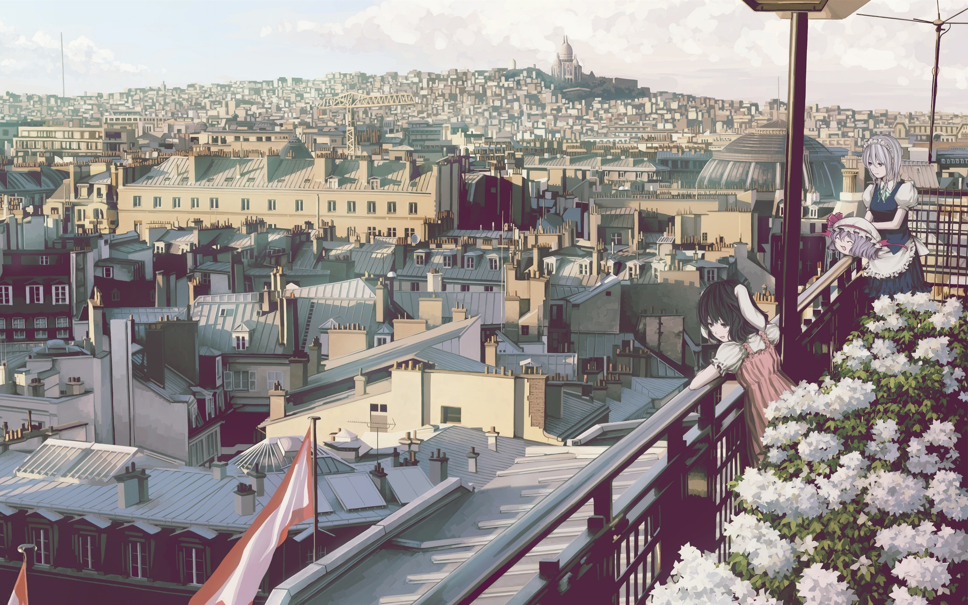 anime city wallpaper background 50843