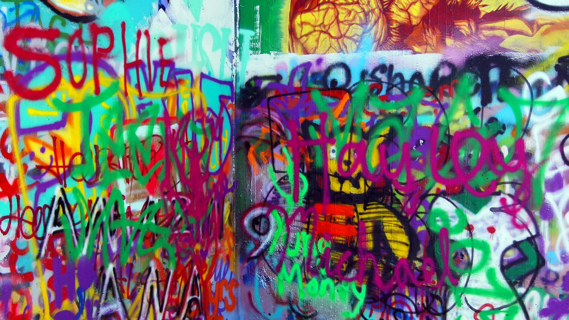 baylor street art wall graffiti