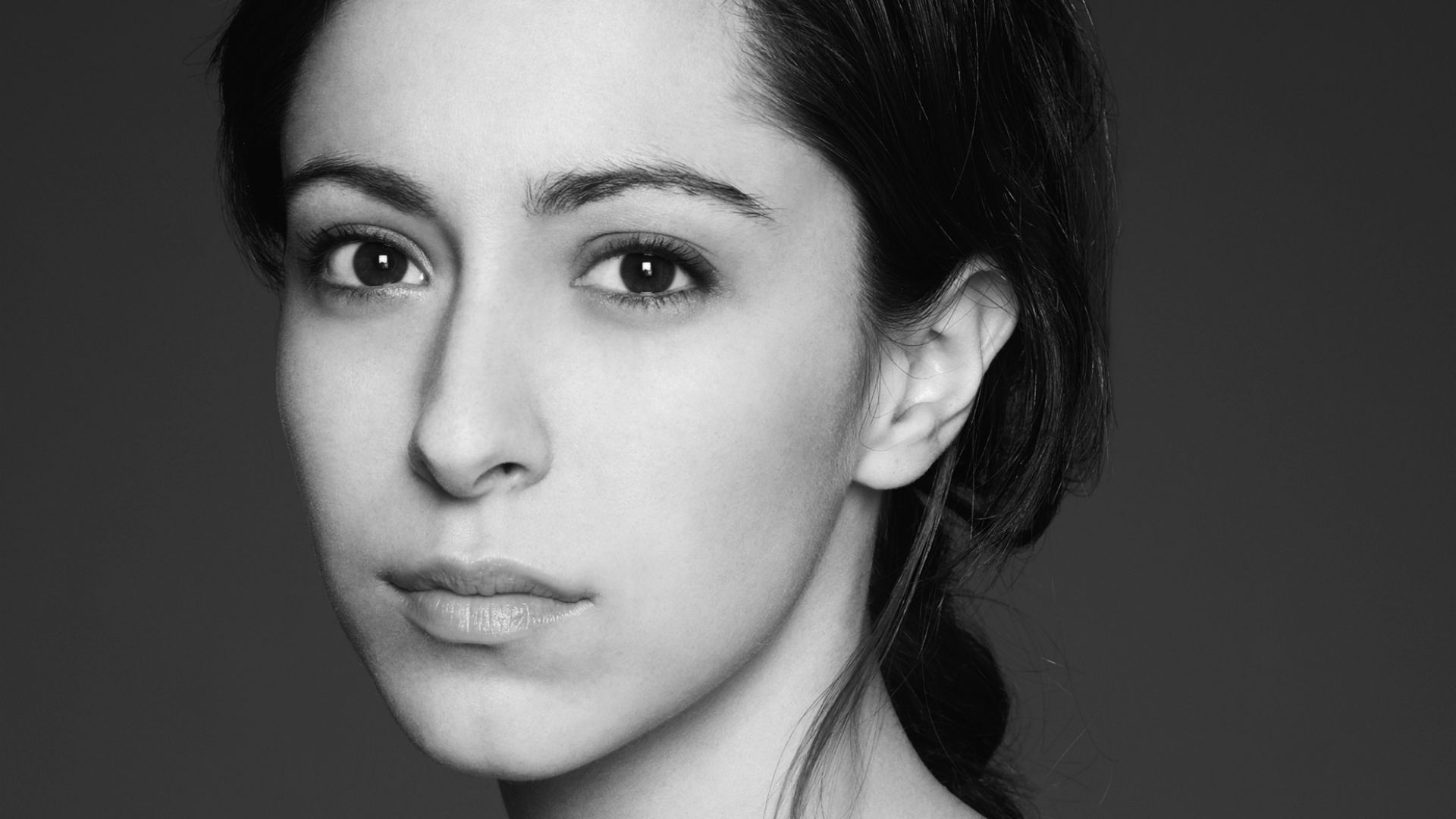 monochrome oona chaplin face wallpaper 58879