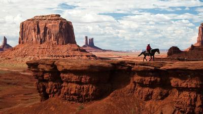 Cowboy Desert Desktop Wallpaper 51994