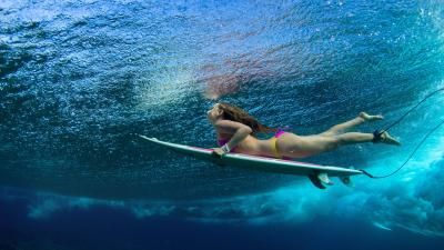 Surfer Girl Wallpaper Background 58686