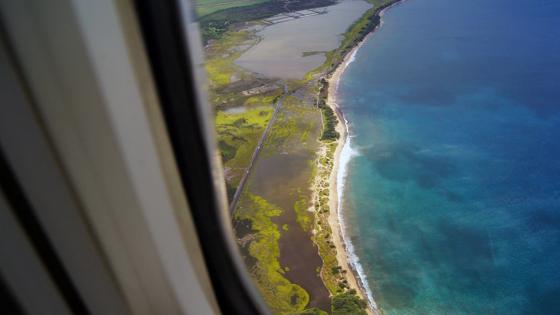 maui aerial view from plane