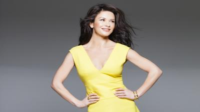 Catherine Zeta Jones Yellow Dress Wallpaper 52034