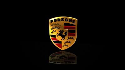 Porsche Logo Reflection Wallpaper 58887