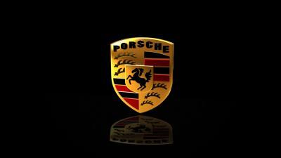 Porsche Logo Reflection Wallpaper 58887