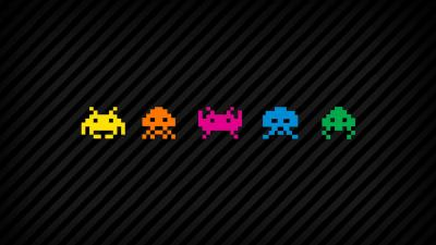 Space Invaders Wide Wallpaper 52020