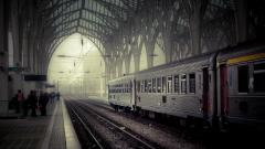 Train Station Wallpaper Background 49177