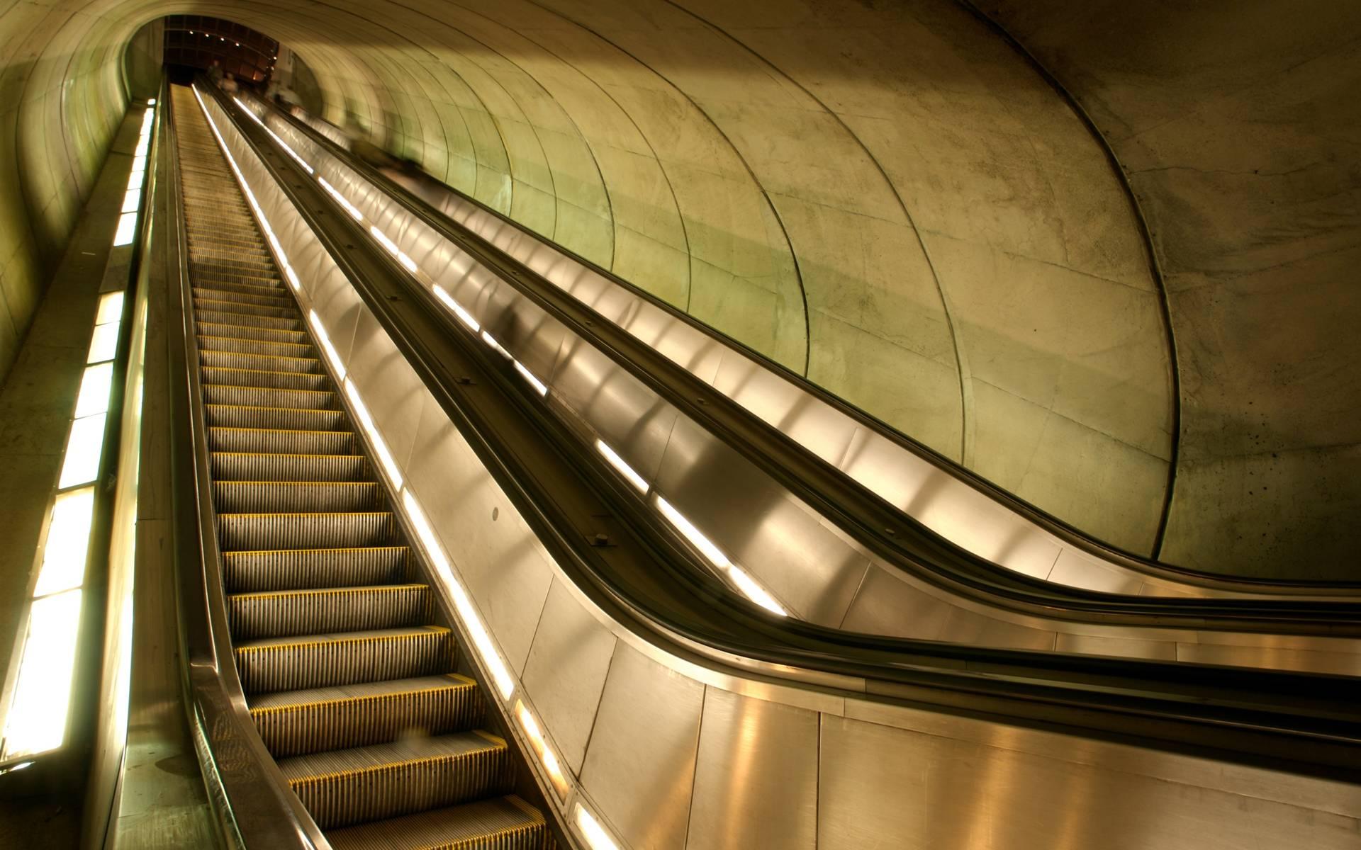 tunnel escalator desktop wallpaper 49174