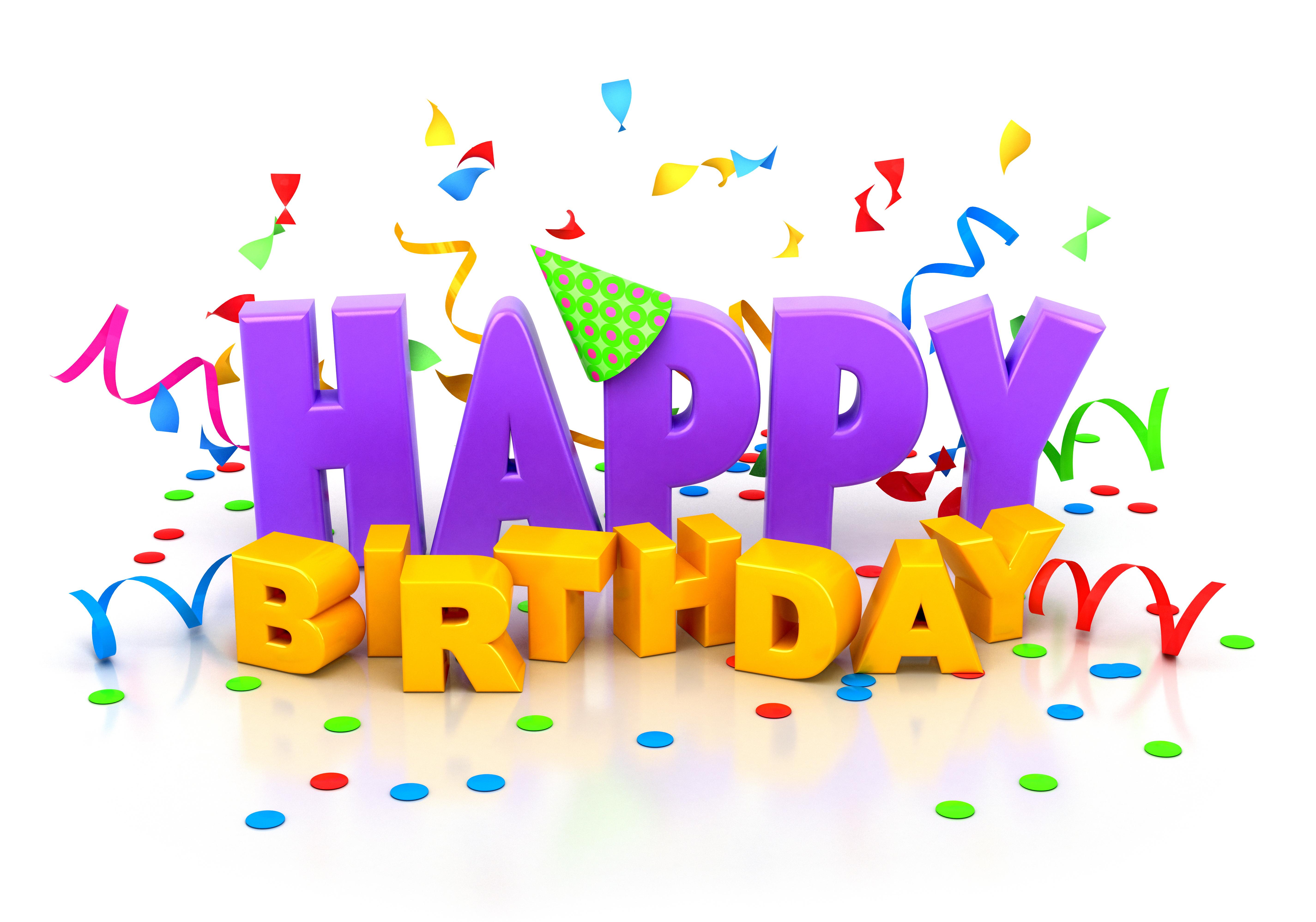 3d happy birthday widescreen wallpaper 49184