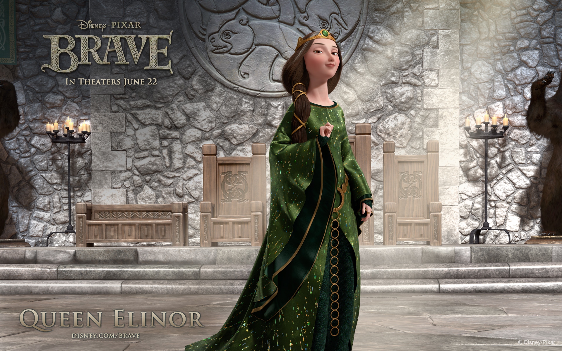 disney pixar brave queen elinor wallpaper 49111