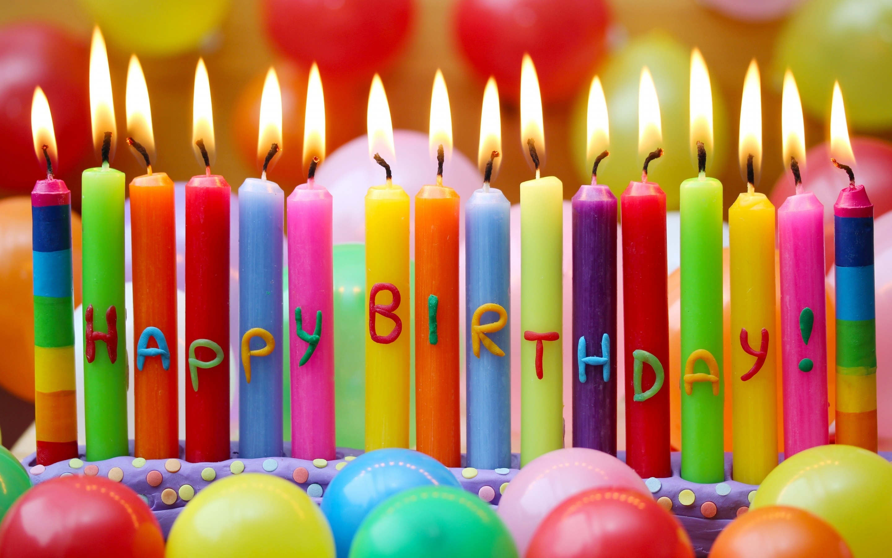 Happy Birthday Candles Wallpaper Background 49189 2880x1800 px