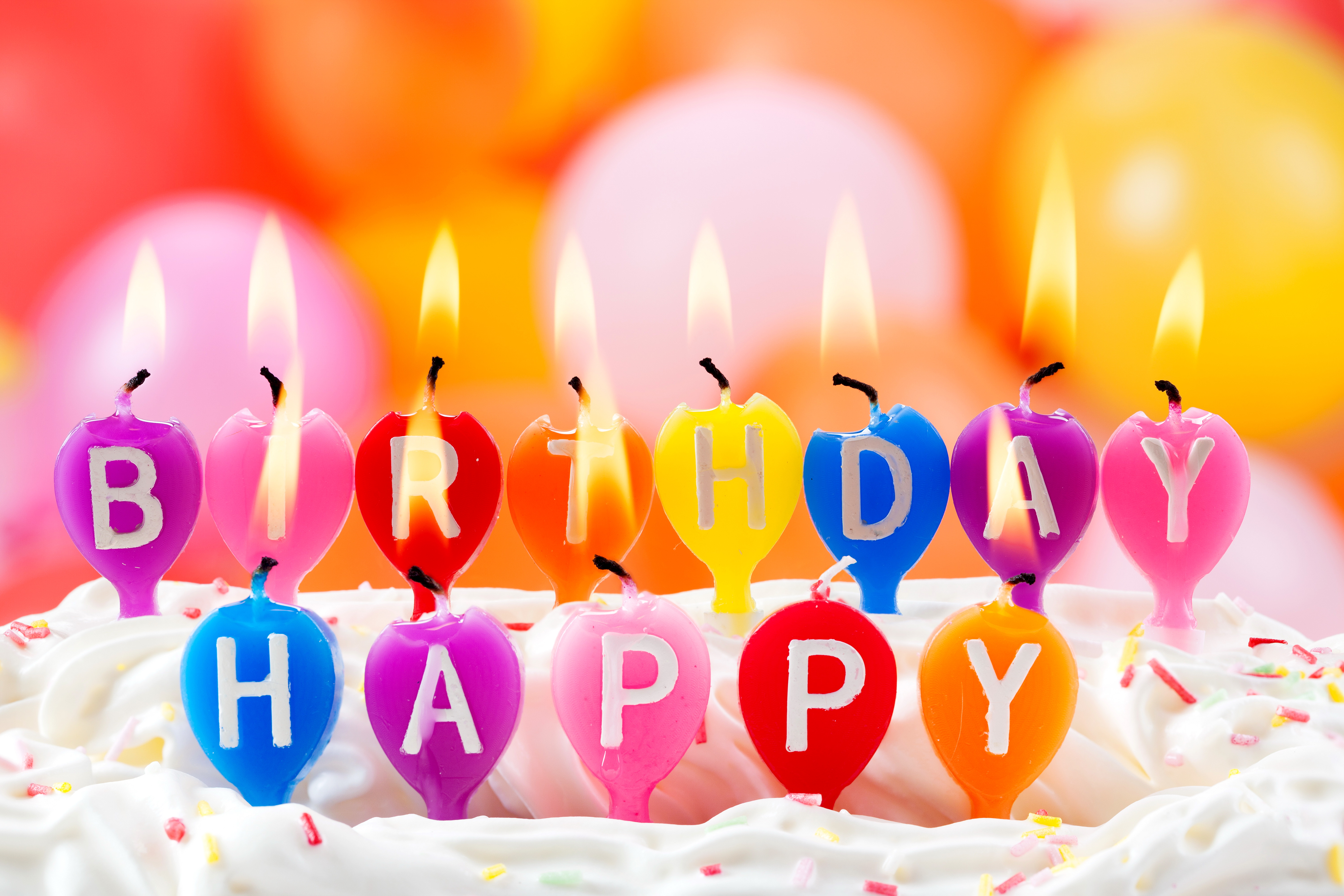 happy birthday candles wide wallpaper 49188