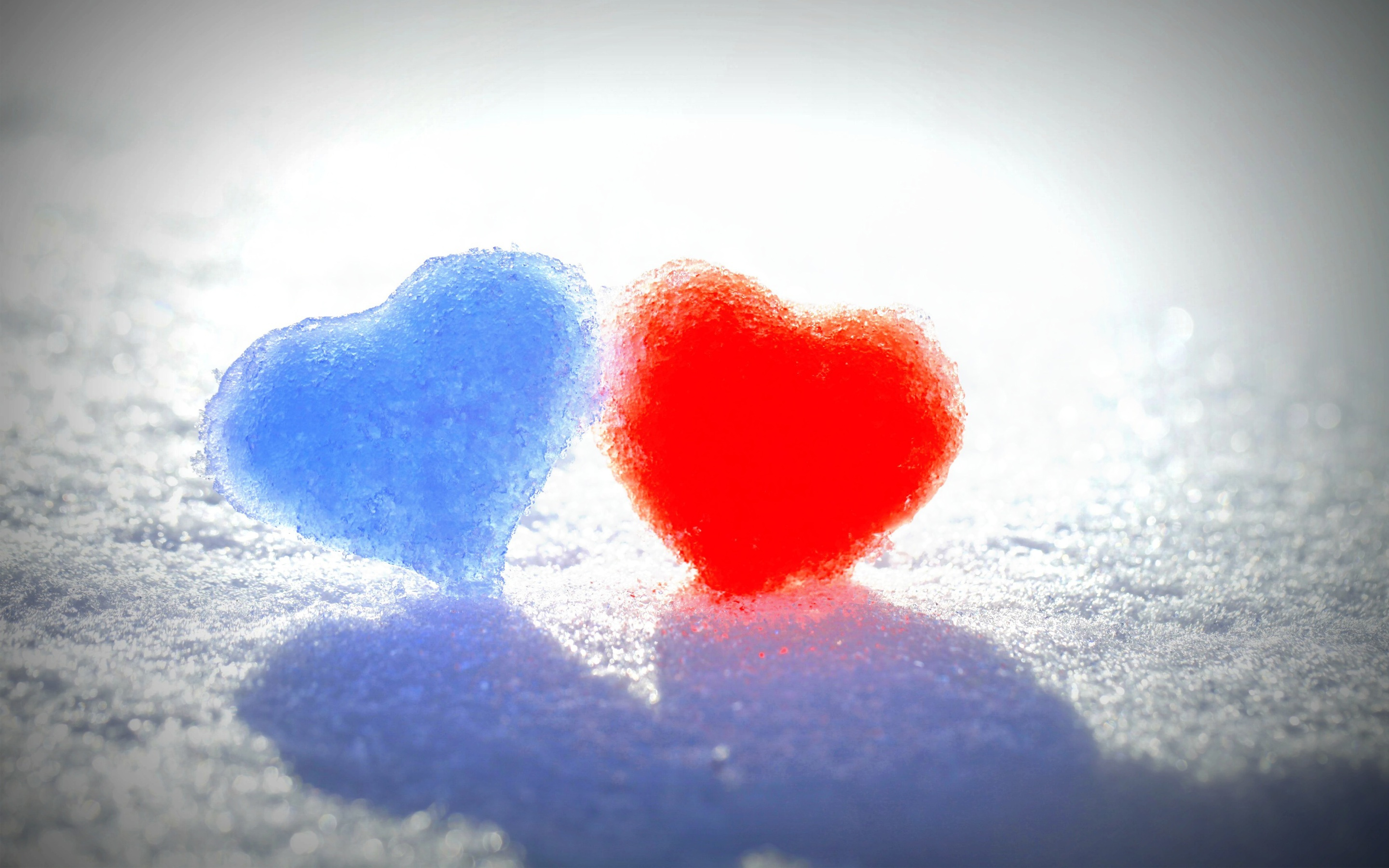 love snow hearts wide wallpaper 50420