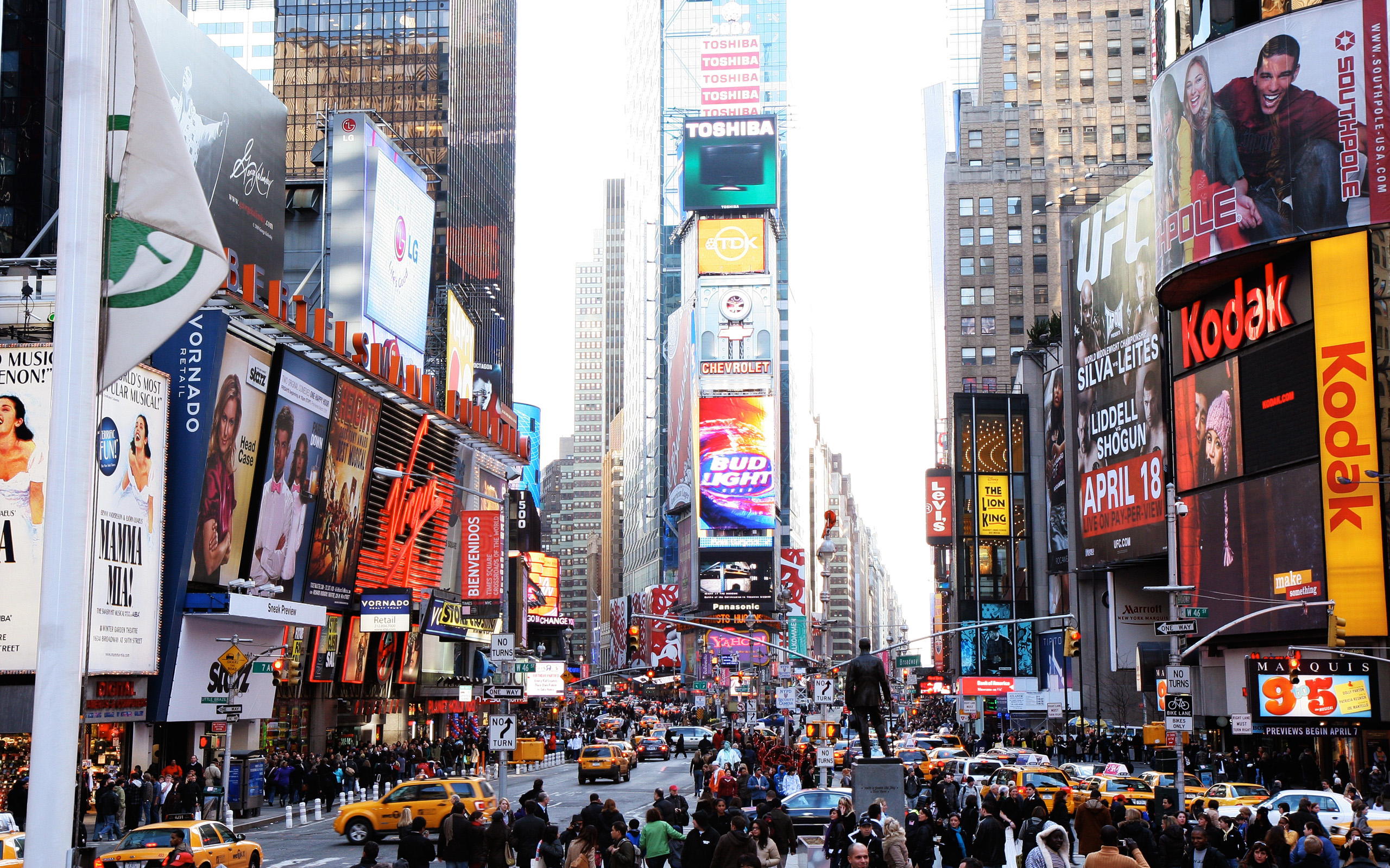 New York Times Square Wallpaper 51014 2560x1600px