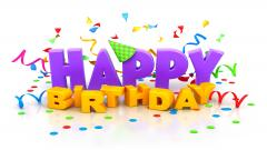 3D Happy Birthday Widescreen Wallpaper 49184