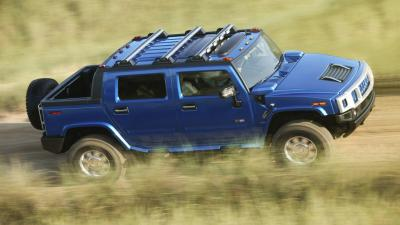Blue Hummer Motion Blur Wallpaper 51963