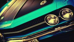 Classic Car Headlights Wide Wallpaper 50171