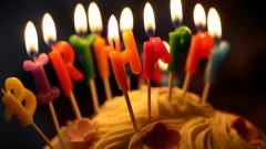 Happy Birthday Candles Wallpaper 49192