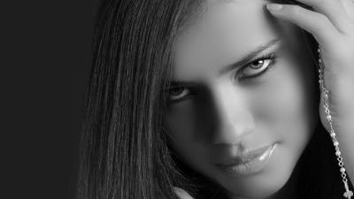 Monochrome Adriana Lima Wallpaper 51764