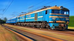 Moving Blue Train Computer Wallpaper 49196