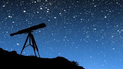 Telescope Silhouette Art Wallpaper 51773