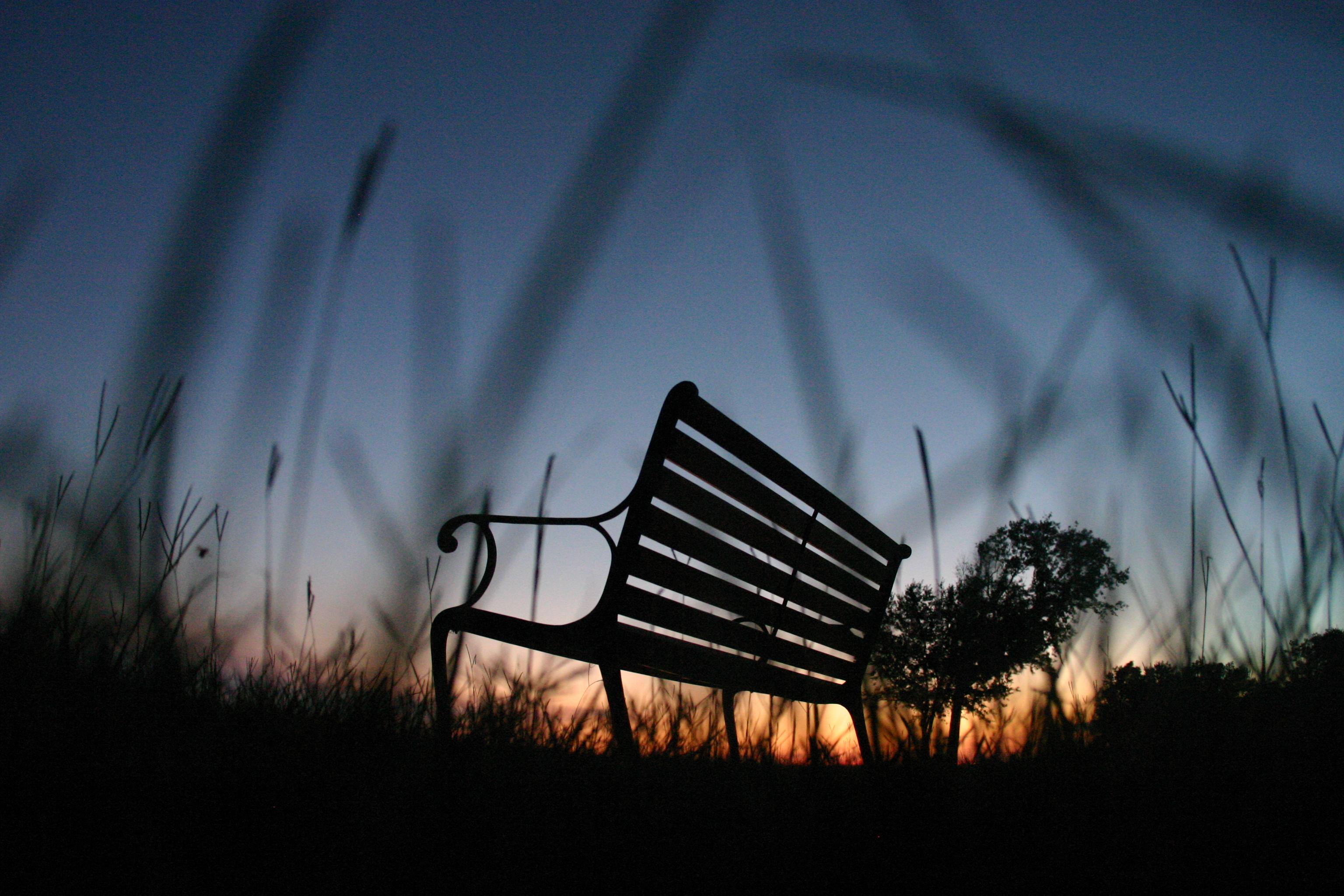 Одинокий вечер на лавочке  № 1821044  скачать