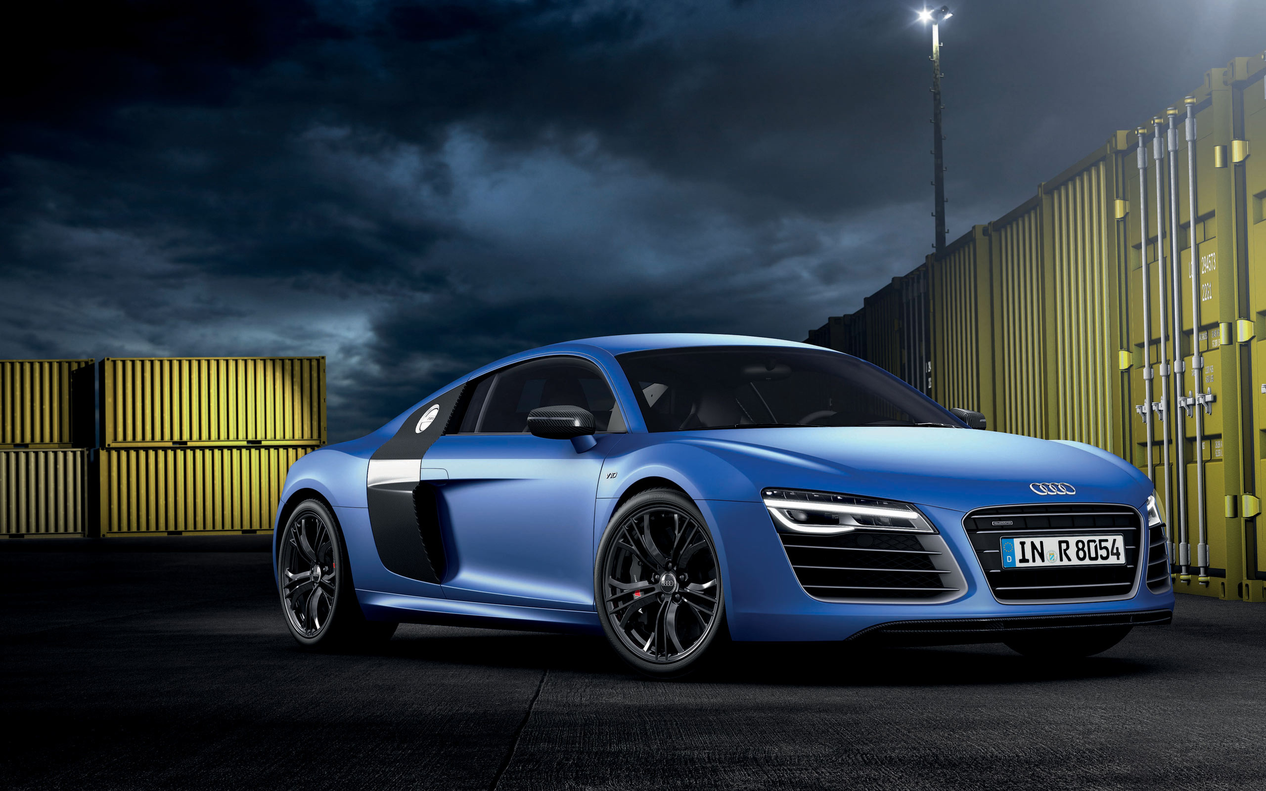 blue audi r8 wallpaper background 49365