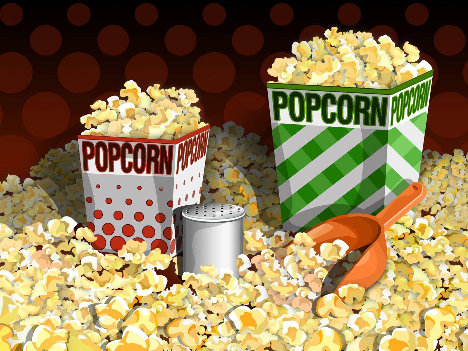digital popcorn wallpaper 49843