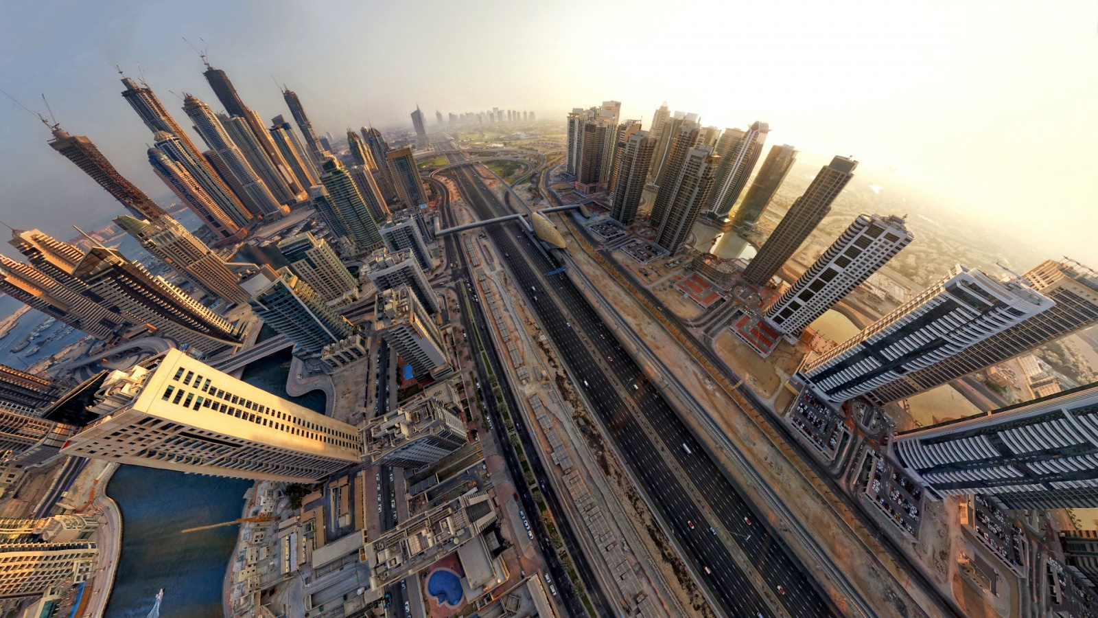 dubai fisheye photography wallpaper 50211