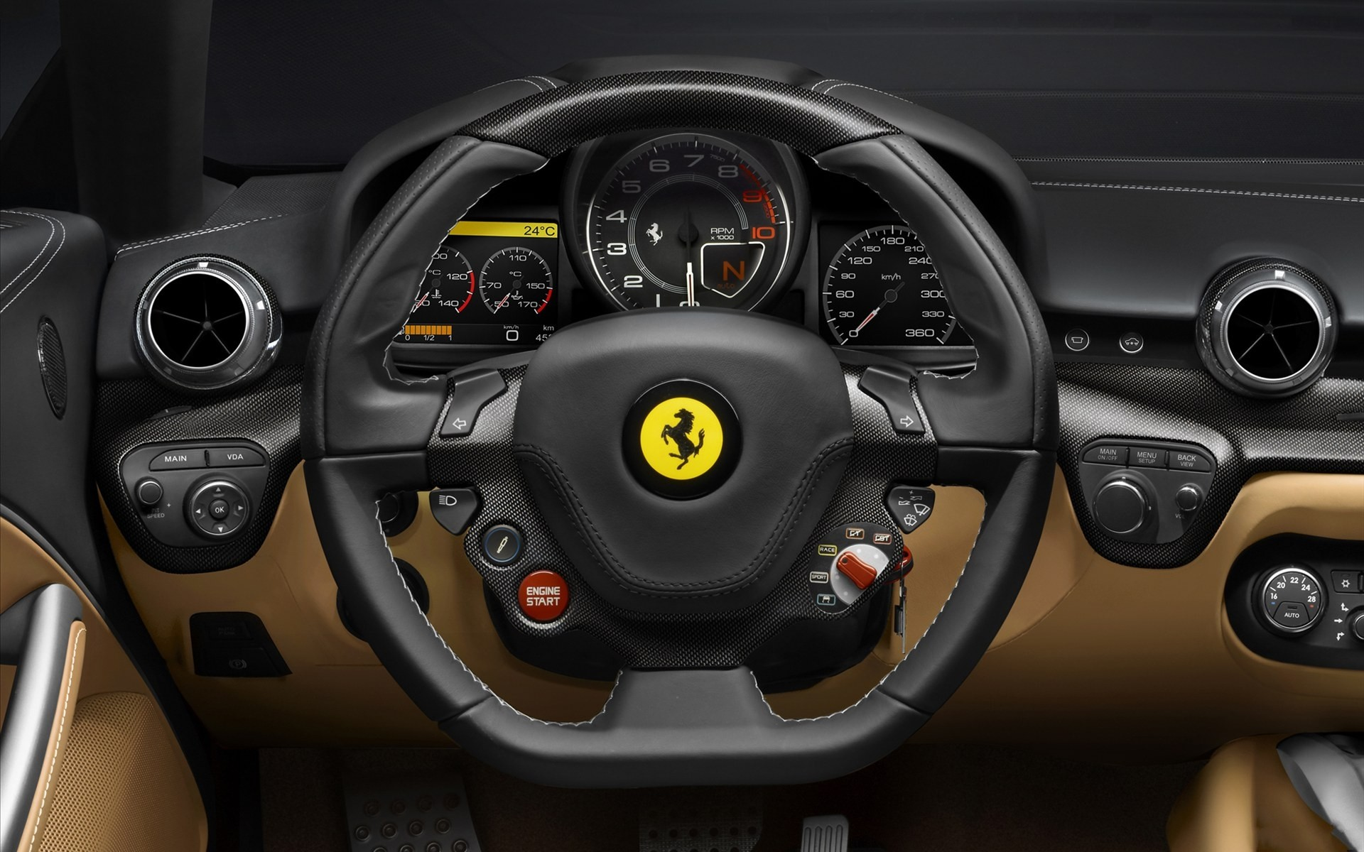 Ferrari Steering Wheel Wallpaper 50222 1920x1200px