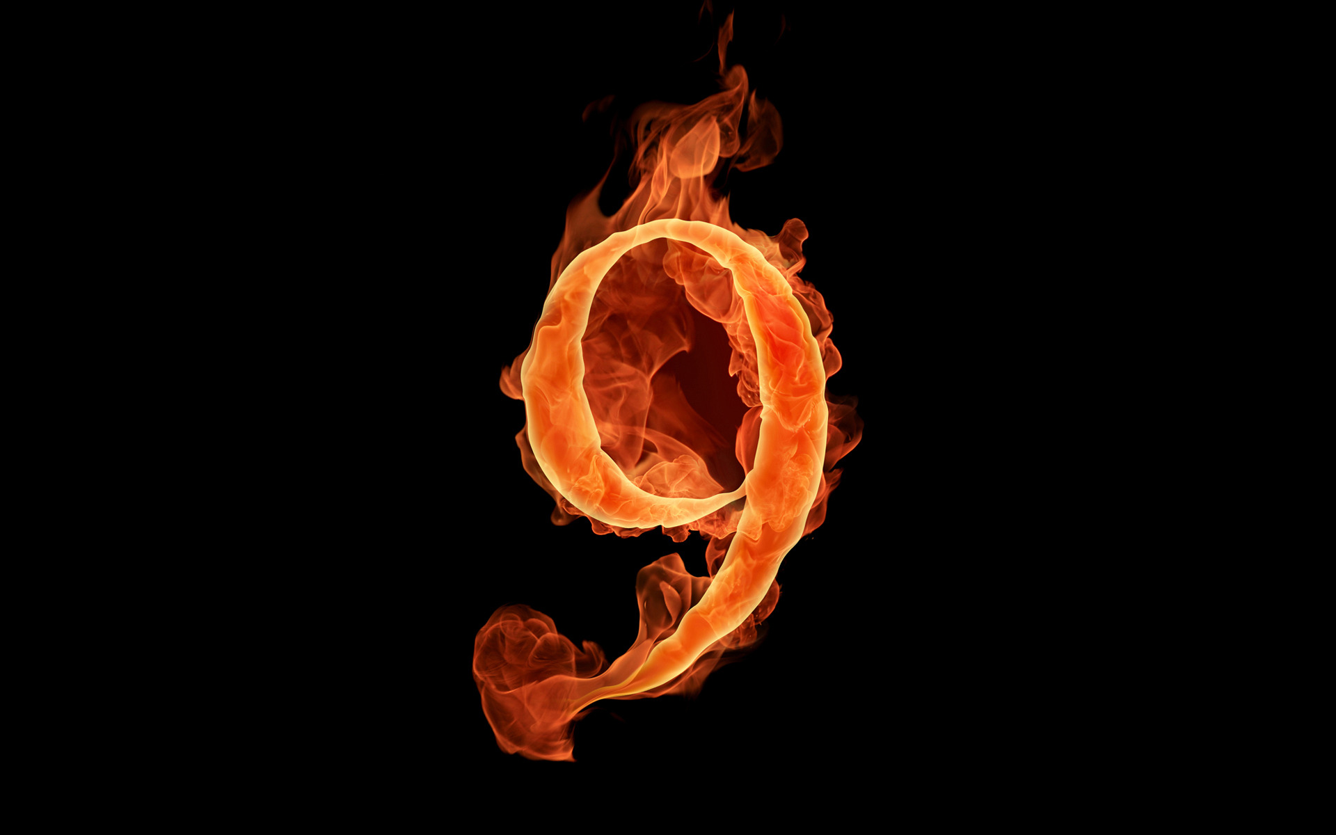 fiery numbers wallpaper 51112