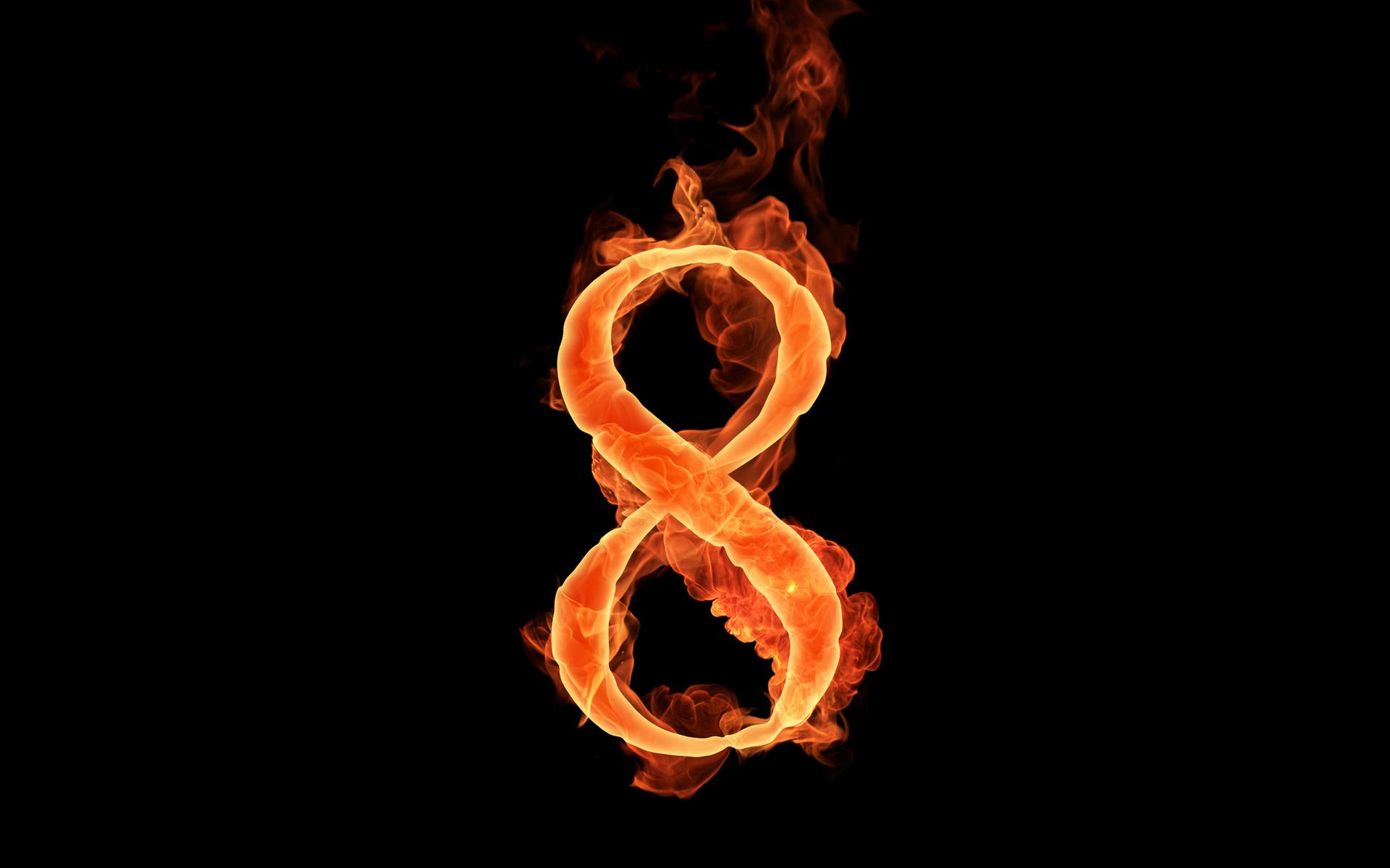 fiery numbers wallpaper hd 51111