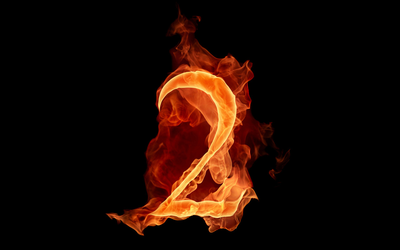 fiery numbers wallpaper picture 51106
