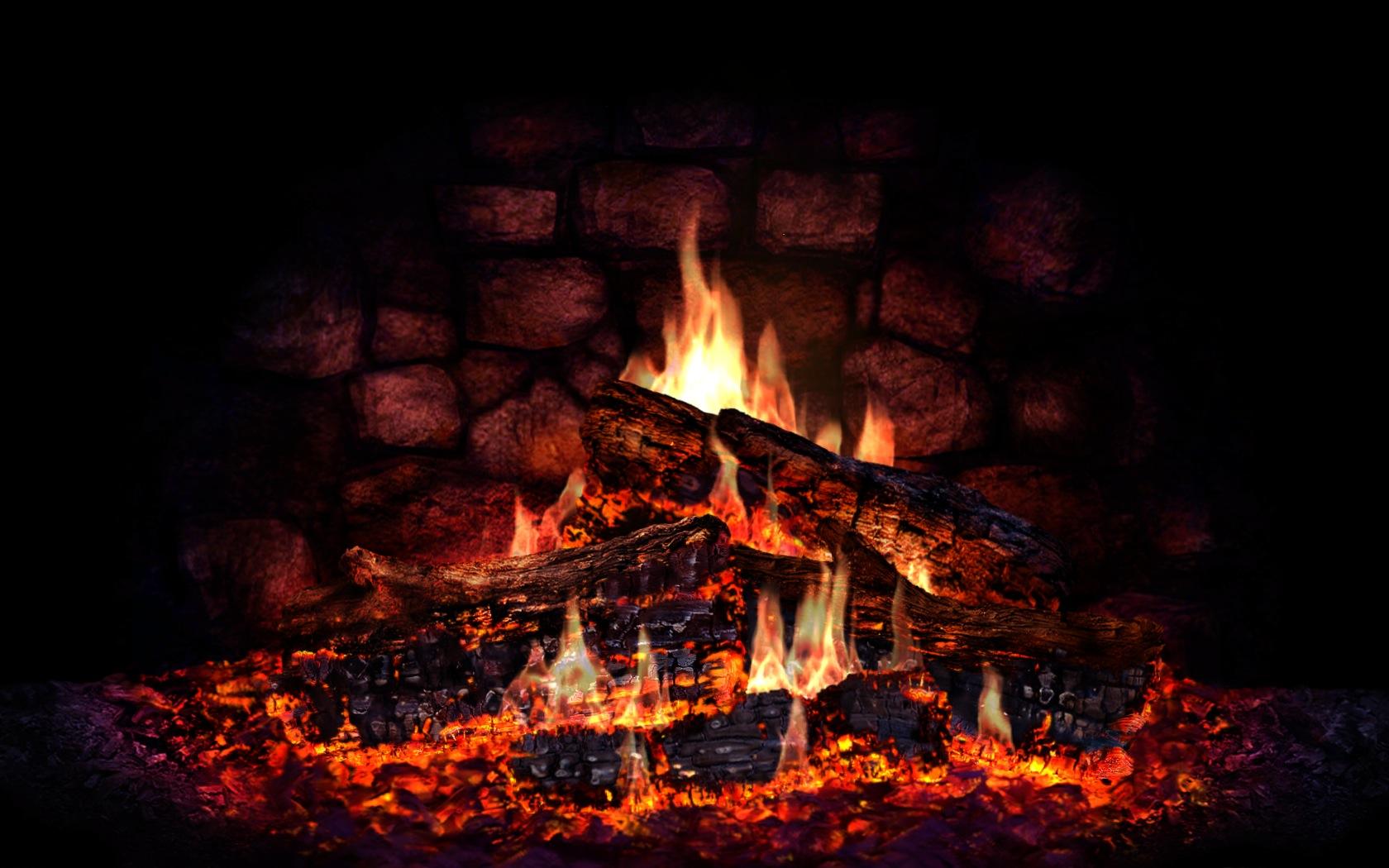 fireplace computer wallpaper 49358