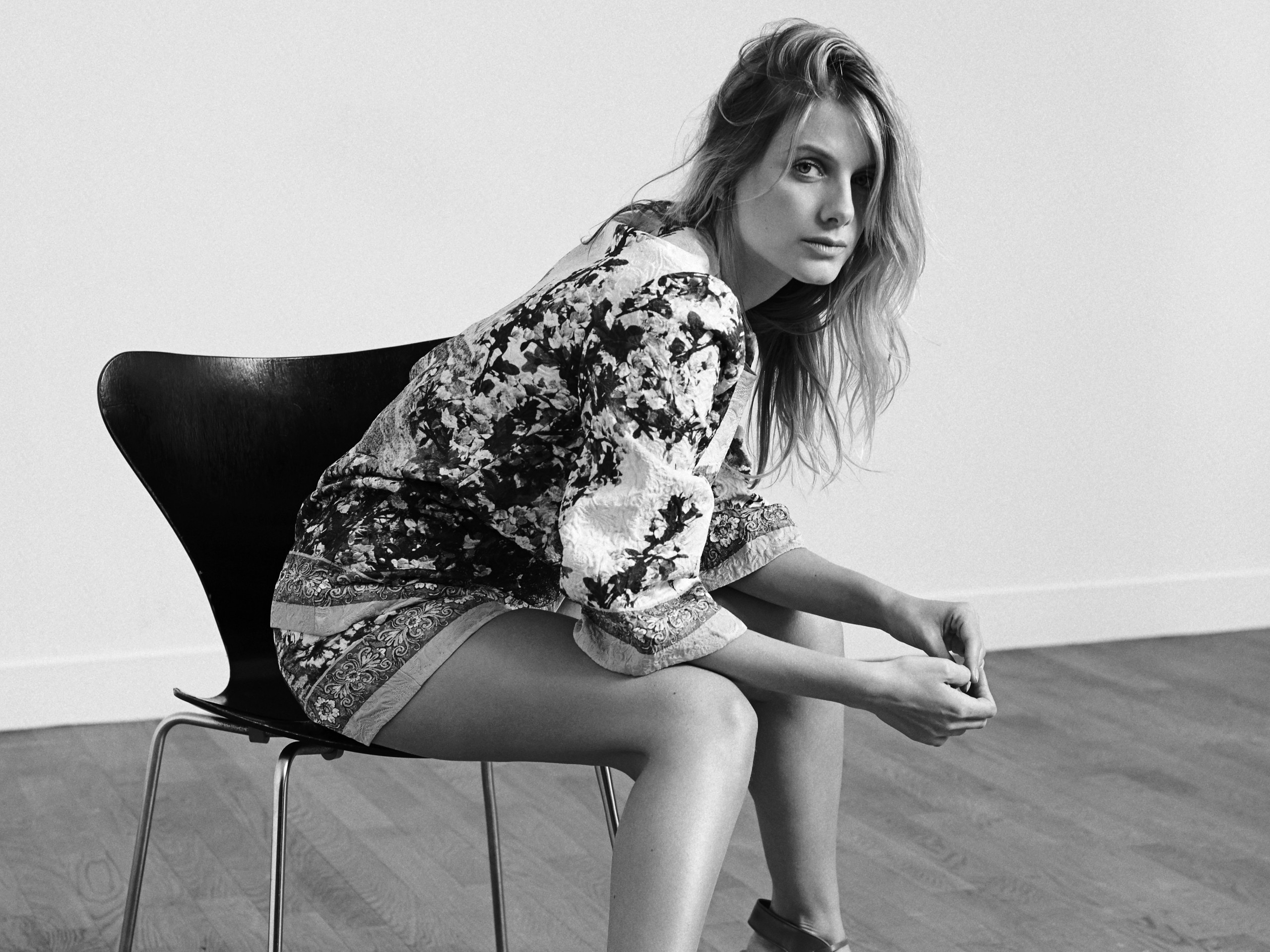 monochrome melanie laurent wallpaper 53763