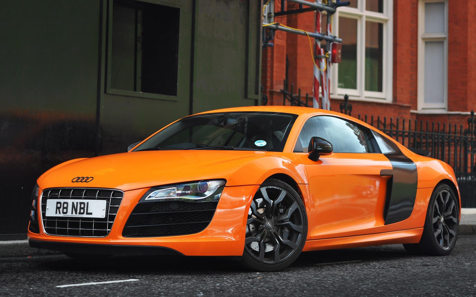 Orange Audi R8 Wallpaper 49369